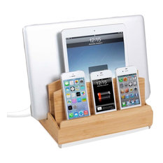 Great Useful Stuff - Ultra Charging Station and Dock, Zen, With 6-Outlet Power Strip - Charging Stations