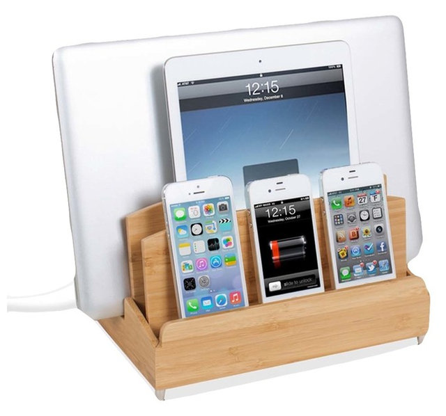 Charging station with power strip