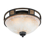 Country Round Ceiling Lamp 33 Rust - Quinta