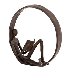Danya B Encircled Reader Iron Sculpture