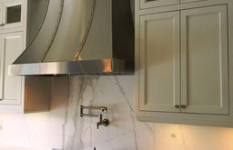 Stainless steel wall range hood by Custom Range Hoods #15-003