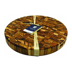 Madeira Canary Teak End-Grain Round Chop, Extra-Large