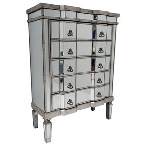 Vintage 5-Drawer Mirrored Chest