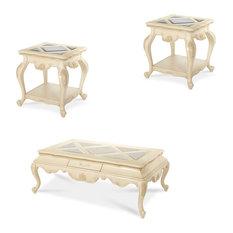 Lavelle Blanc Occasional Table Set, 3-Piece Set, Blanc