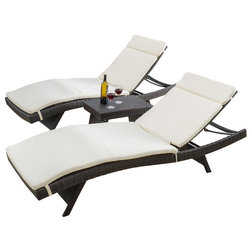 Tropical Outdoor Chaise Lounges by GDFStudio