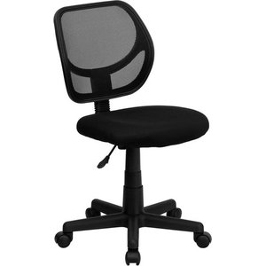 Delacora FF-WA-3074 21.5 Inch Wide Fabric Swivel Task Chair with Mesh Back