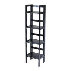 Winsome Wood Transitional Black Composite Wood Shelf