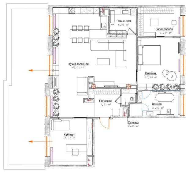 Поиск планировки: Квартира в Петербурге с террасой