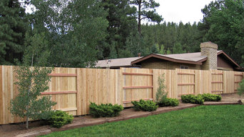 Alternating Privacy Panel Fence with PostMaster® Steel Fence Post System