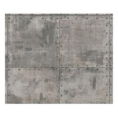 Metallic wallpaper houzz - American tin tiles wallpaper ...