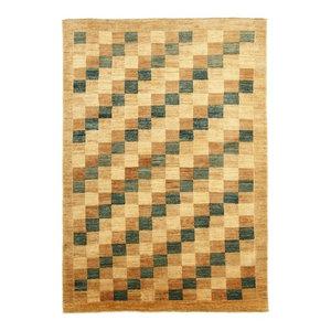 Ziegler Gabbeh Oriental Rug, Pakistan Hand-Knotted Modern, 200x140 cm