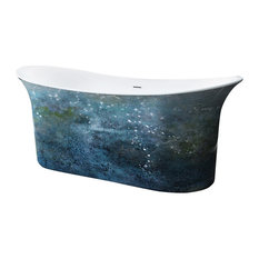 """Cyclone Painted 66"""" Freestanding Tub No Faucet"""
