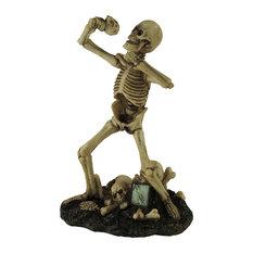 Heavy Metal Vocalist Skeleton Singer Statue
