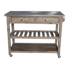 Boraam Industries, Inc. - Sonoma Kitchen Cart - Kitchen Islands and Kitchen Carts
