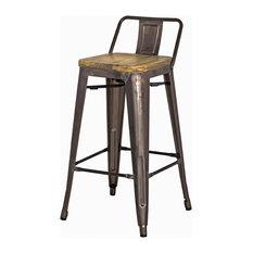 apt2b grand lowback counter stools set of 4 gunmetal bar