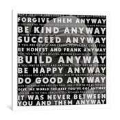 """Mother Teresa Quote"" Wrapped Canvas Art Print, 37x37x0.75"