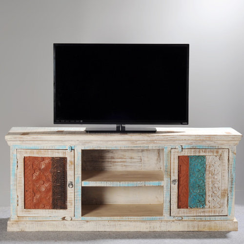 Rustic Reclaimed Wood Media Stand and Consoles