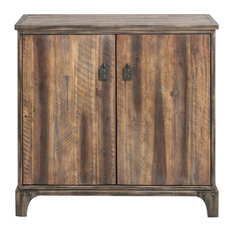 Rustic Farmhouse Wood Iron Accent Cabinet | French Country Cottage Antique Style