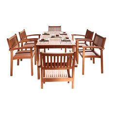 Good Vifah   Malibu 7 Piece Dining Set   Outdoor Dining Sets Design Inspirations