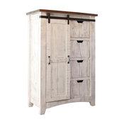 Greenview Barn Door Dresser, 4 Shelves/4 Drawers