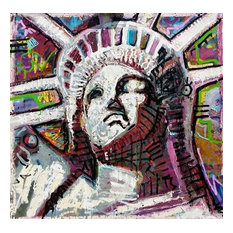 "Large Wall Art New York CIty Statue of Liberty 36""x36"" by Matt Pecson"