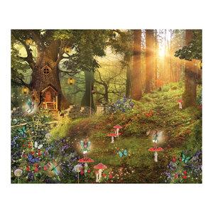 Away Wood Fairy Wall Mural, Large