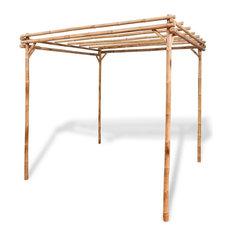 "vidaXL Pergola Bamboo 76.8"" Garden Patio Veranda Arbor Vine Plant Support Arch"