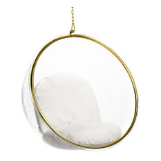 Modern Bubble Hanging Gold Lounge Chair by AronLiving