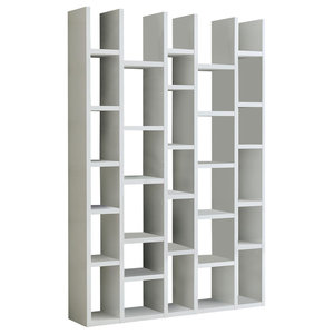 Torero 5 Column Bookcase, White