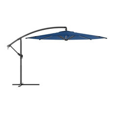 CorLiving PPU-490-U Offset Patio Umbrella, Cobalt Blue