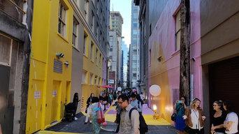 Downtown Vancouver's Pink Laneway