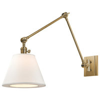 Hillsdale, One Light Vertical Swivel Wall Sconce, Aged Brass Finish