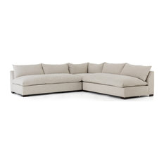 Galene 3-Piece Sectional Oatmeal Beige