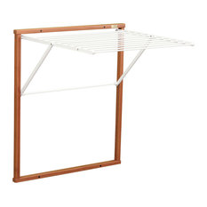 Kledy Wall-Mounted Clothes Airer, Cherry