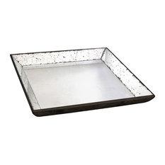 """Mirror Glass Tray, 24""""x24"""""""