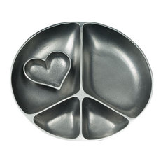 Serving Peace Platter With Heart Bowl