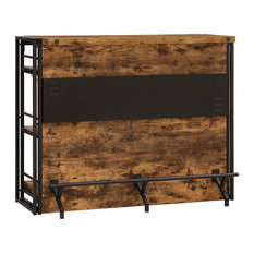 Asita Home - Industrial Bar Unit Table Wine Stemware Rack - Wine and Bar Cabinets