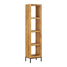 vidaXL Solid Mango Wood Bookshelf Bookcase Display Stand Storage Organizer