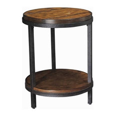 Beaumont Lane Round End Table in Vintage Umber
