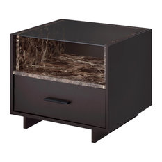 Acme Dayle Nightstand Espresso And Faux Marble