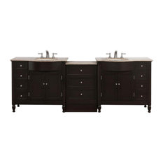 "Silkroad 95"" Modern Double Sink Bathroom Vanity"