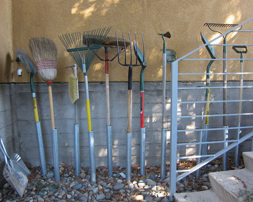 Garden Tool Storage Ideas 12 diy backyard storage ideas that will beautify your backyard Eclectic Home Design Photo In Sacramento