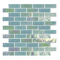 "Emerald Green, 1""x3"", Glass Tile"