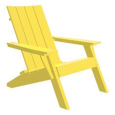 Urban Adirondack Chair, Recycled Plastic, Yellow