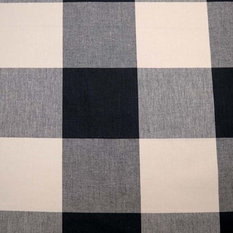 Buffalo Check Jet Pkaufmann Fabric, by the Continuous Yard