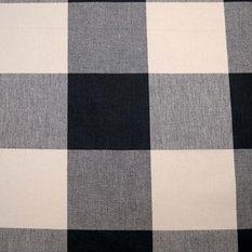 pkaufmann - Buffalo Check Jet Pkaufmann Fabric, by the Continuous Yard - Upholstery Fabric