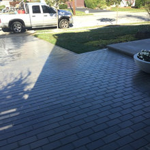 Paver Driveway with Modern Stone Entrance - Bellmore, N.Y 11710