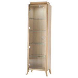 Wooden Cabinet With 1 Glass Door, Right Opening