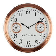 Fifty Five South - Bloomsbury Wall Clock, Copper - Wall Clocks