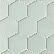 Decorative Hexagon Glass Ice Breaker Verve Mosaic
